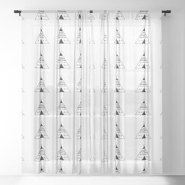 Modern Teepees Sheer Curtain