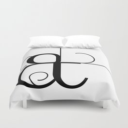 Curves Ampersand Art Typography Duvet Cover