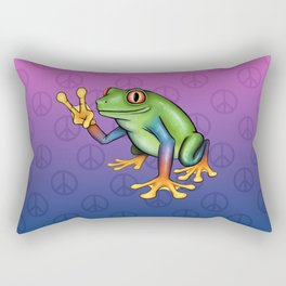 Peace Frog Rectangular Pillow