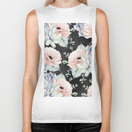 Night Succulents Biker Tank