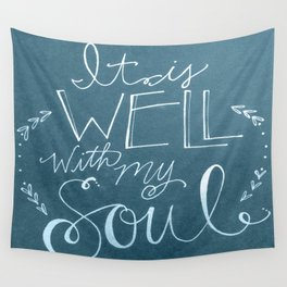 It is well with my blue soul Wall Tapestry