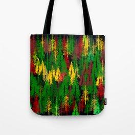 autumn fir forest Tote Bag