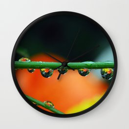 lemon and orange drops Wall Clock