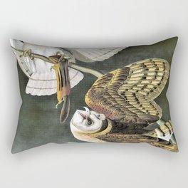Barn Owl - John James Audubon Rectangular Pillow