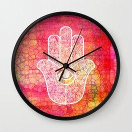 Hamsa I Wall Clock