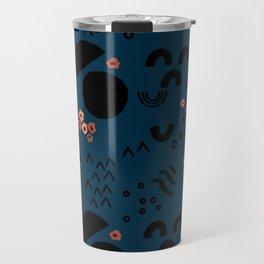 Floral Moonscape Travel Mug