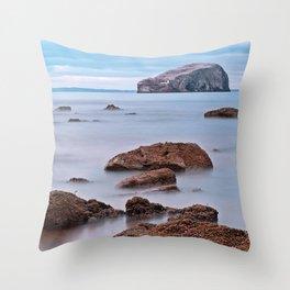 The Bass Rock Throw Pillow