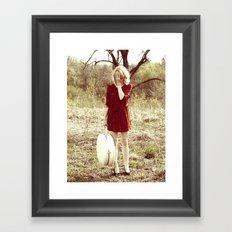 Bashful Beauty Framed Art Print