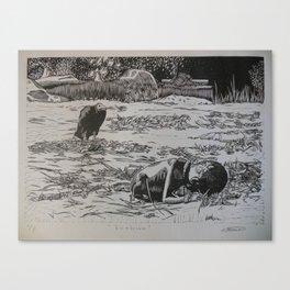 Hambruna (hunger) Canvas Print