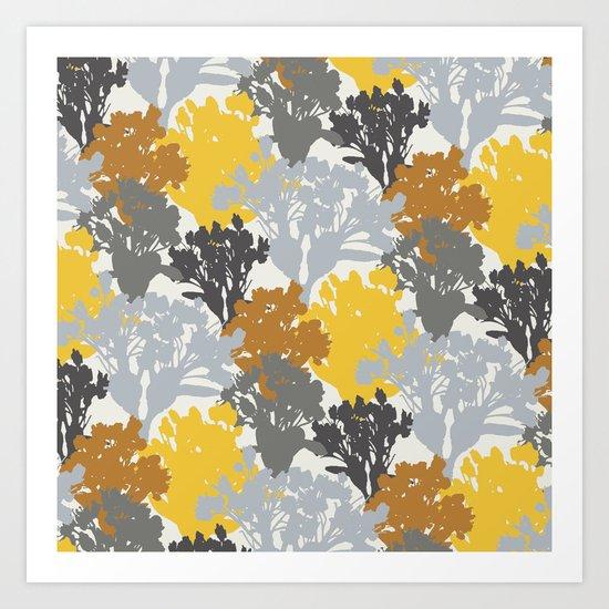 Acer Bouquets - Golds & Silvers Art Print