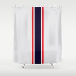 Silver Racer Shower Curtain