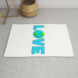 Planet Earth Love For Environment and Earth Day Rug