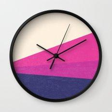 Stripe IV Violet Ray Wall Clock
