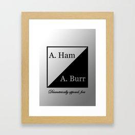 A. Ham / A. Burr Framed Art Print