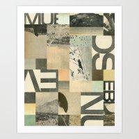 Retro Modern Art Art Print