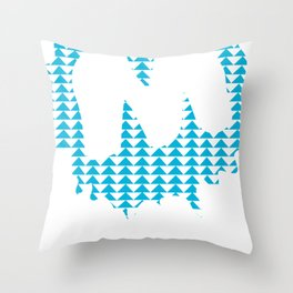 Moulded Triangle / Moulded Rides Throw Pillow