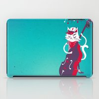 bass iPad Cases featuring Double Bass by karolindie