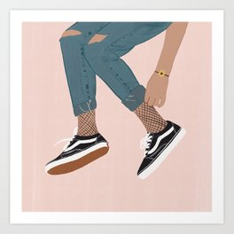 Vans Lover Art Print