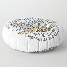 small government, larger freedom Floor Pillow