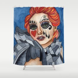 Harlequin - watercolor Shower Curtain