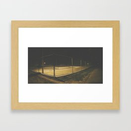 Empty Public Pool at Night Framed Art Print