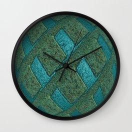 Green Sphere with Blue Globe Wall Clock