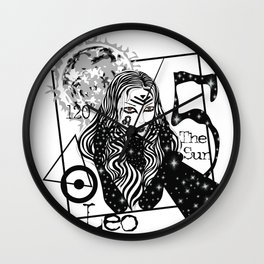 Leo - Zodiac Sign Wall Clock