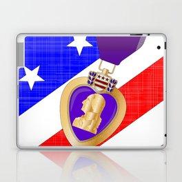 Flag and Purple Heart Laptop & iPad Skin