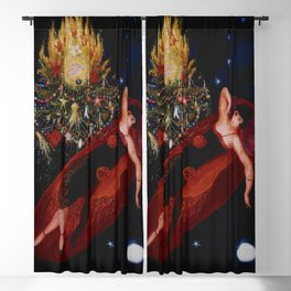 Stars & Moon (Portrait of my Crazy Sister) by Florine Stettheimer Blackout Curtain