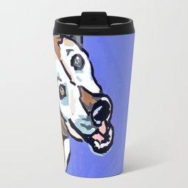 Happy Marvelous Mystery Mutt Dog Portrait Travel Mug