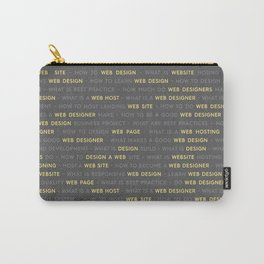 Yellow Web Design Keywords Poster Carry-All Pouch