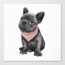 parlez-vous frenchie? Canvas Print