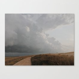 Golden Storm Prairie Canvas Print