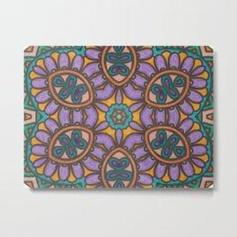 Mandala Mirror Metal Print