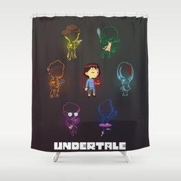 Undertale Souls Shower Curtain