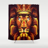 lion king Shower Curtains featuring Lion King by Mart Biemans