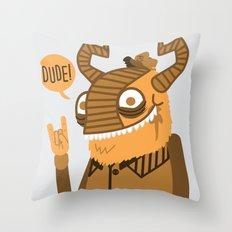 Monster Trucker Throw Pillow