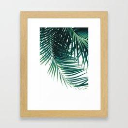 Palm Leaves Green Vibes #4 #tropical #decor #art #society6 Framed Art Print