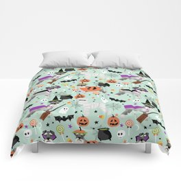 Schnauzer dog breed halloween costumes cute dog gift for fall autumn Comforters