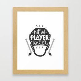 New player in town Framed Art Print