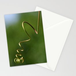 Spring Shaped Passion Flower Tendril  Stationery Cards