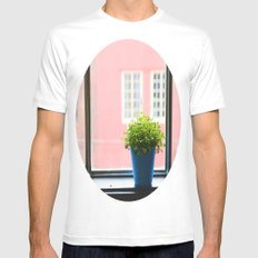 A little light for the plant Mens Fitted Tee MEDIUM White