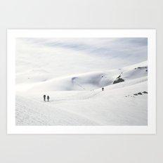 Volcano Ascent 02 Art Print