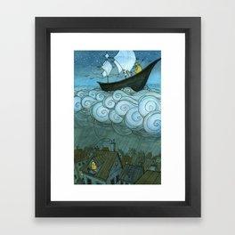 Sky Sailing Framed Art Print