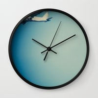 plane Wall Clocks featuring Plane by vientocuatro