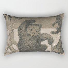 Theodor Kittelsen Dans i Maaneglans Rectangular Pillow