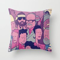 royal tenenbaums Throw Pillows featuring The Royal Tenenbaums by Ale Giorgini