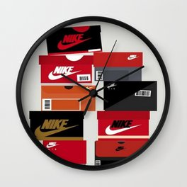 SNEAKER HEAD RED Wall Clock