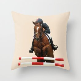 Show Jumping 1 Throw Pillow