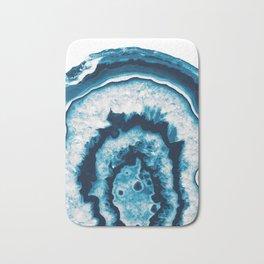 Blue White Agate #1 #gem #decor #art #society6 Bath Mat